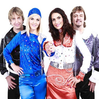 Abba tribute band for a touch of glamour and great hits