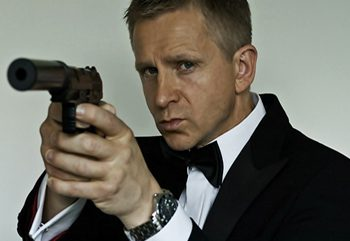 Max as Daniel Craig's Bond